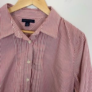 Buy2Get2🎁Tommy Hilfiger Striped Red& White Blouse